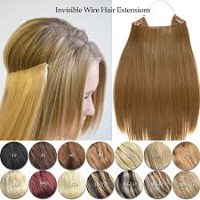 Uzbekistan Hair Extensions by Halo Style Remy Human Hair Extension Elastic Invisible Wire Hair
