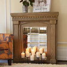 creative decorate fireplace with candles amazing home design