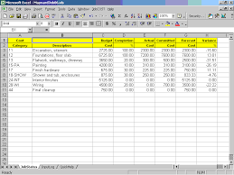 construction cost report template cost controller for excel contractor management software