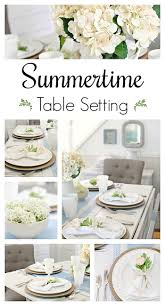 Table Setting by Summer Table Setting For Entertaining Town U0026 Country Living