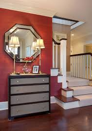 Transitional Dining Room Ideas 2017 Grasscloth Wallpaper 25 Gorgeous Entryways Clad In Wallpaper