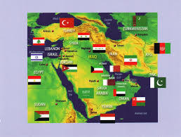 Map Middle East by Middle East Map Flag Postcard Erin Flickr