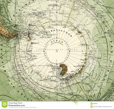 Antartica Map 1875 Antique Map Of Antarctica Royalty Free Stock Photos Image