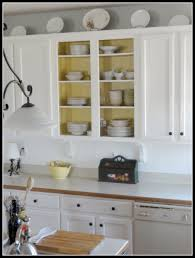 open cabinets kitchen ideas remodelaholic beautifully updated kitchen with pops of yellow