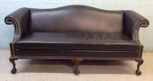 Camel Back Leather Sofa Impressive On Camelback Leather Sofa Hancock Leather