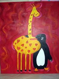 imagenes de amistad jirafas la amistad de la jirafa y el pingüino aynur deneyici artelista com
