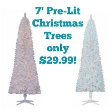walmart 7 pre lit artificial tree only 29 99