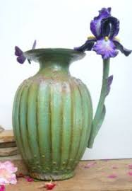 Vase With Irises Art Works By Sharles Fine Art Oil Paintings And Bronze Sculptures