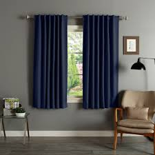 63 Inch Curtains Home Solid Insulated Thermal 63 Inch Blackout Curtain Panel