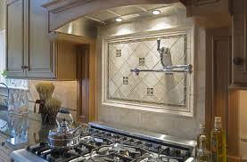 large tile forksplash with dark cabinets staggering pictures