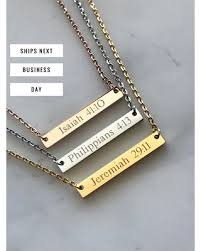 bible necklace big deal on personalized bar necklace scripture necklace bible
