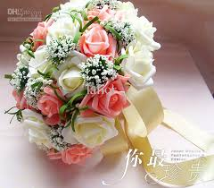 bridal flower bokay of flowers for wedding wedding bouquet artificial