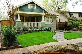 small front yard landscaping with natural green grass side cute