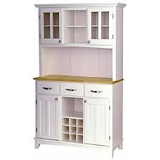 Oak Buffet And Hutch by Amazon Com Hutch Style Buffet White Natural Buffets U0026 Sideboards