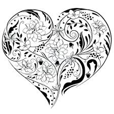 flowers hearts coloring pages flowers hearts coloring pages 939