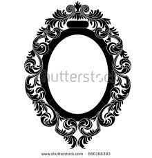 oval vintage border frame engraving retro stock vector 660166393