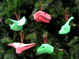 dinosaur christmas ornaments pattern make your own paper