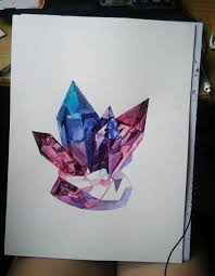 crystals i paint colorful crystals using watercolor bored panda