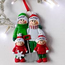 Cheap Personalised Christmas Decorations Family Personalised Christmas Decoration By Letteroom