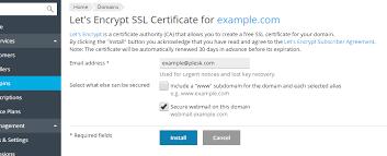 how to secure webmail using let u0027s encrypt in plesk onyx u2013 plesk