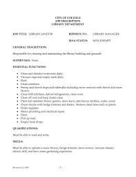 Resume Sample For Cleaner by Sample Resume For Custodian Hospital Custodian Cover Letter In