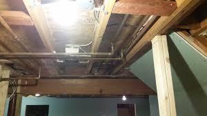 exposed basement ceiling sprayed black diy album on imgur