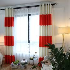 online get cheap orange striped curtains aliexpress com alibaba