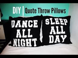 pillows with quotes diy quote throw pillows youtube