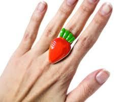 carrot ring carrot ring etsy