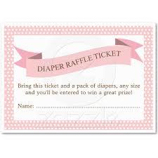 Invitation Business Cards Pink Baby Shower Diaper Raffle Ticket Insert Raffle Tickets