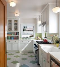 vinyl tile backsplash with green and white kitchen traditional and