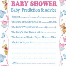 baby shower advice cards fengrise 10pcs baby shower new prediction advice cards x