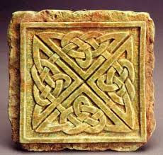 celtic knot wall plaque midnight moon art for home and garden