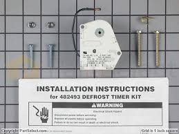 whirlpool w10822278 defrost timer partselect
