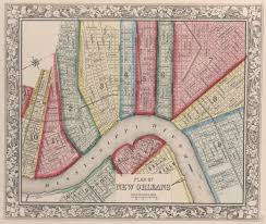 New Orleans City Map by The History Blog Blog Archive New York Public Library Puts
