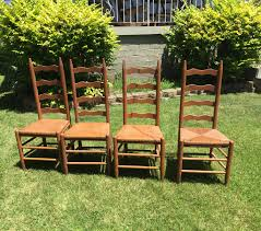 Tall Back Chairs by Vintage Ladder Back Chairs Sturdy Show Minimal Wear Beautiful