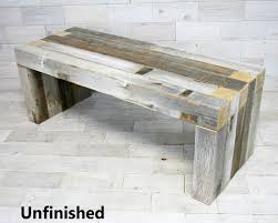 the box joint bench made from barn wood tags weathered wood