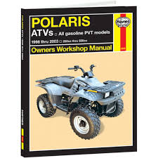 haynes repair manual polaris atvs 250 800cc 2508 manuals