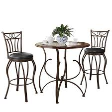 How Tall Is A Dining Room Table by Steve Silver Brookfield Glass Top 3 Piece Counter Height Dining