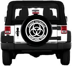 zombie response jeep zombie outbreak response team white spare tire cover
