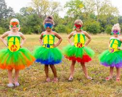 Ninja Turtle Halloween Costume Girls Orange Teenage Mutant Ninja Turtle Tutu Dress Orange Tmnt