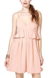 light pink v neck peplum dress casual dresses women casual