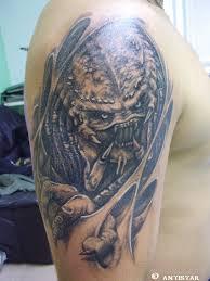 alien vs predator tattoo predator tattoos pinterest alien vs
