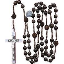 rosary of the seven sorrows seven sorrows wood habit rosary aluminum steel 106 grams