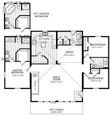 650 Sq Ft Floor Plan 2 Bedroom by Modular Housing Construction Meadowcreek Series Floor Plans