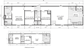 Single Wide Mobile Home Floor Plans 2 Bedroom Putnam 16 X 66 1001 Sqft Mobile Home Factory Expo Home Centers