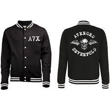 Avenged Sevenfold Flag Avenged Sevenfold Men U0027s Varsity Jacket Death Bat With Back