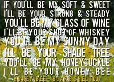 printable lyrics honey bee blake shelton honey bee blake shelton pse asl song sign pinterest