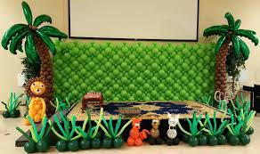 jungle theme decorations jungle themed birthday party decoration birthday party planner for you