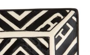 moroccan appetizer plate black and white jayson home